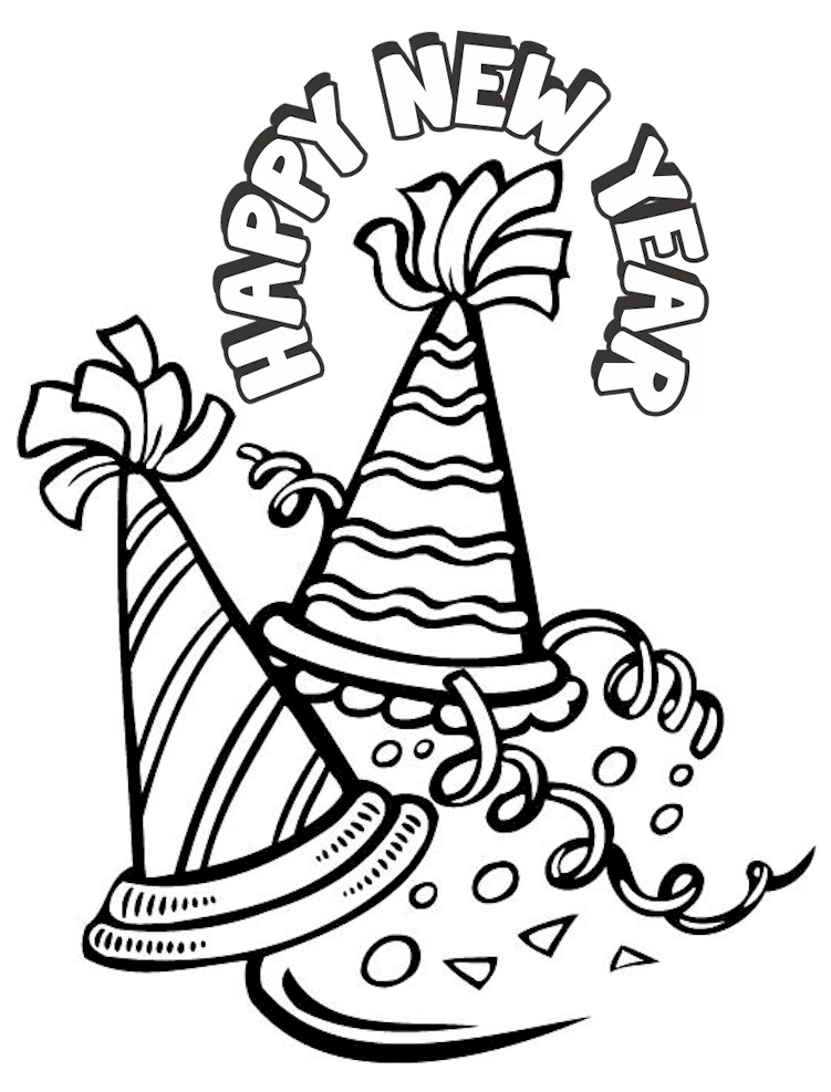 Happy New Year Coloring Pages Best Coloring Pages For Kids