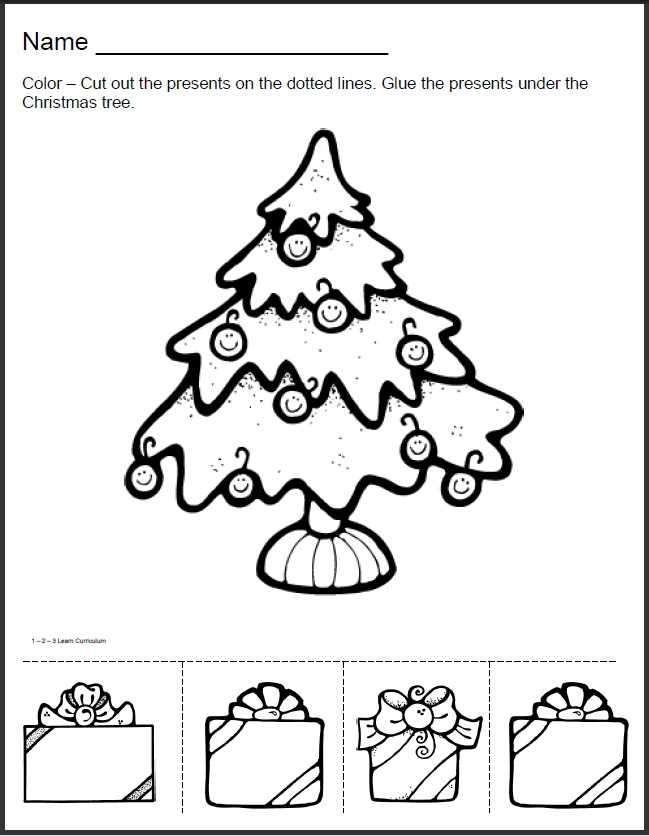 christmas tree writing paper