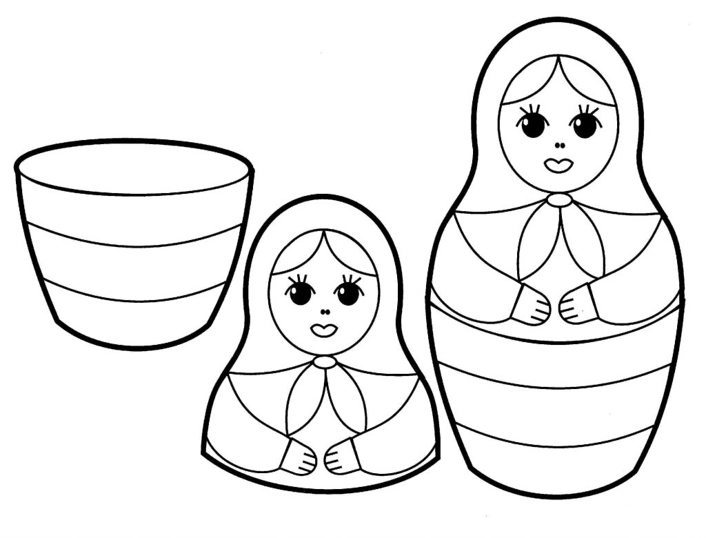 Russian Doll Toy Coloring Page