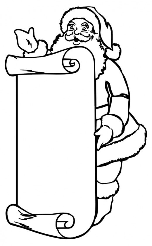 Santa Coloring Pages Best Coloring