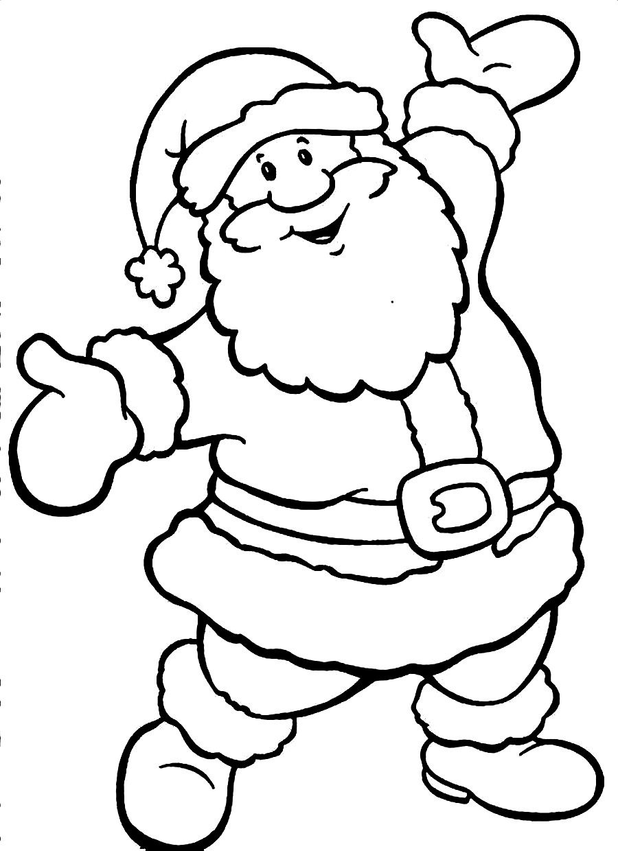 Uncategorized Coloring Pages Santa santa coloring pages best for kids page