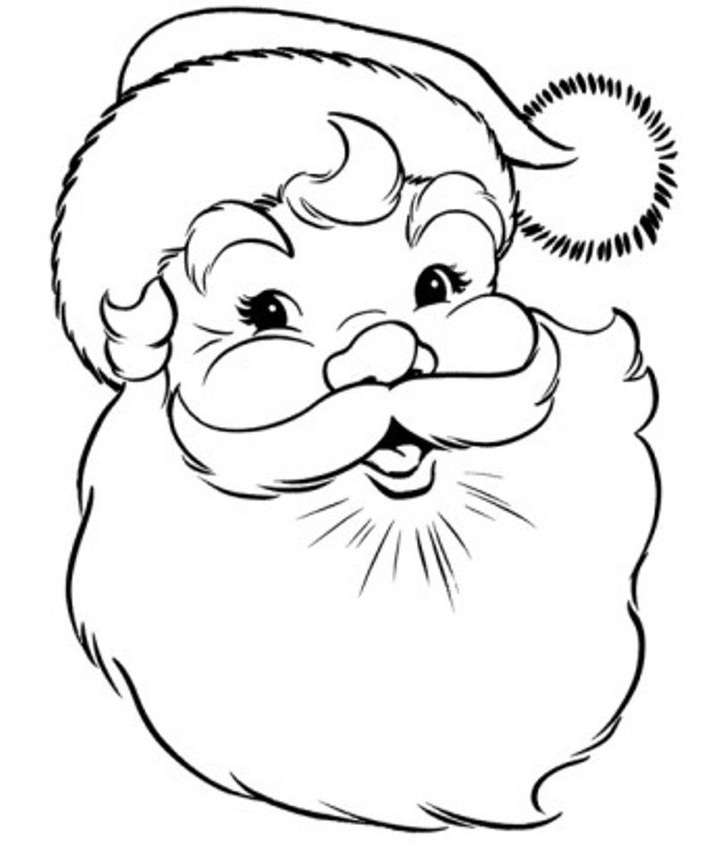 Santa coloring pages best coloring pages for kids for Coloring book pages for toddlers