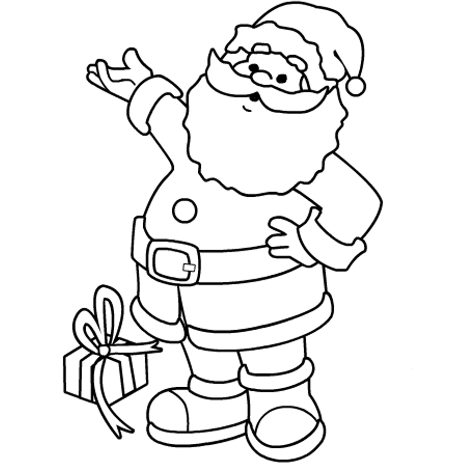 santa coloring pages - Coloring Pages Santa