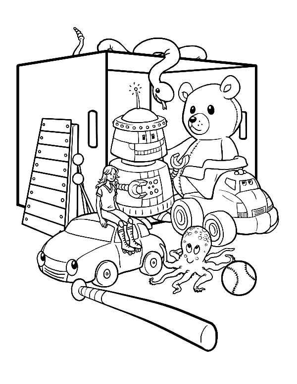 Toy Room Coloring Page