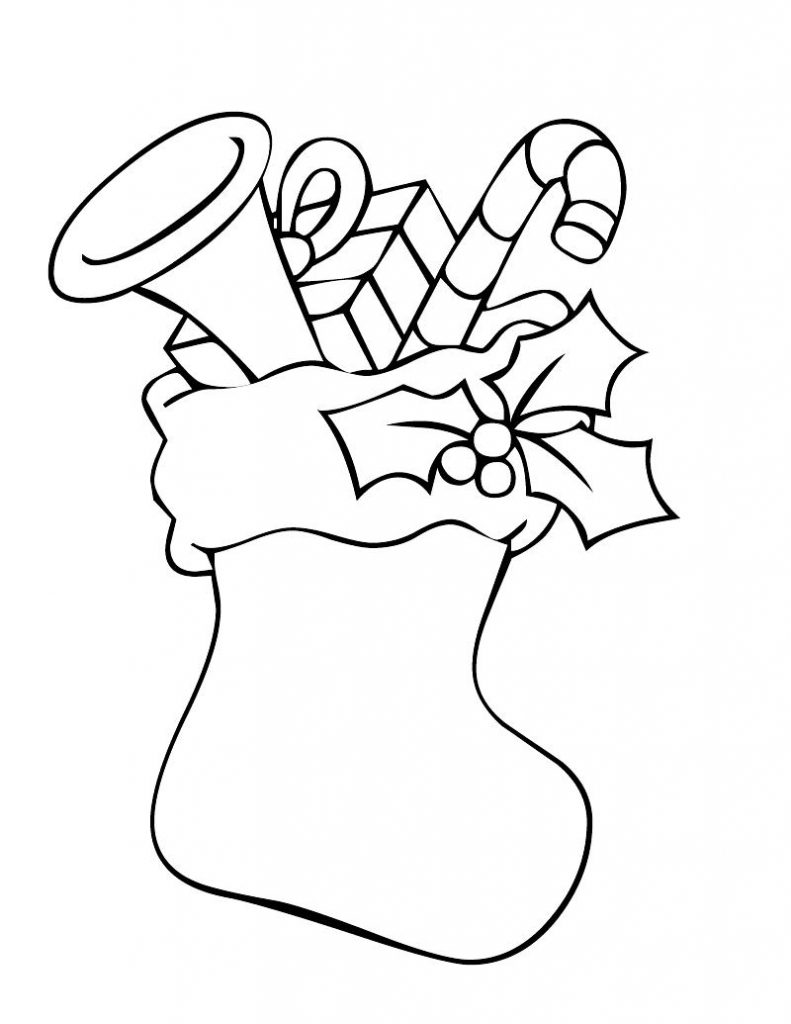 Christmas stocking coloring pages best coloring pages for Christmas stocking color page