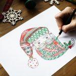 Coloring Santa for the holidays