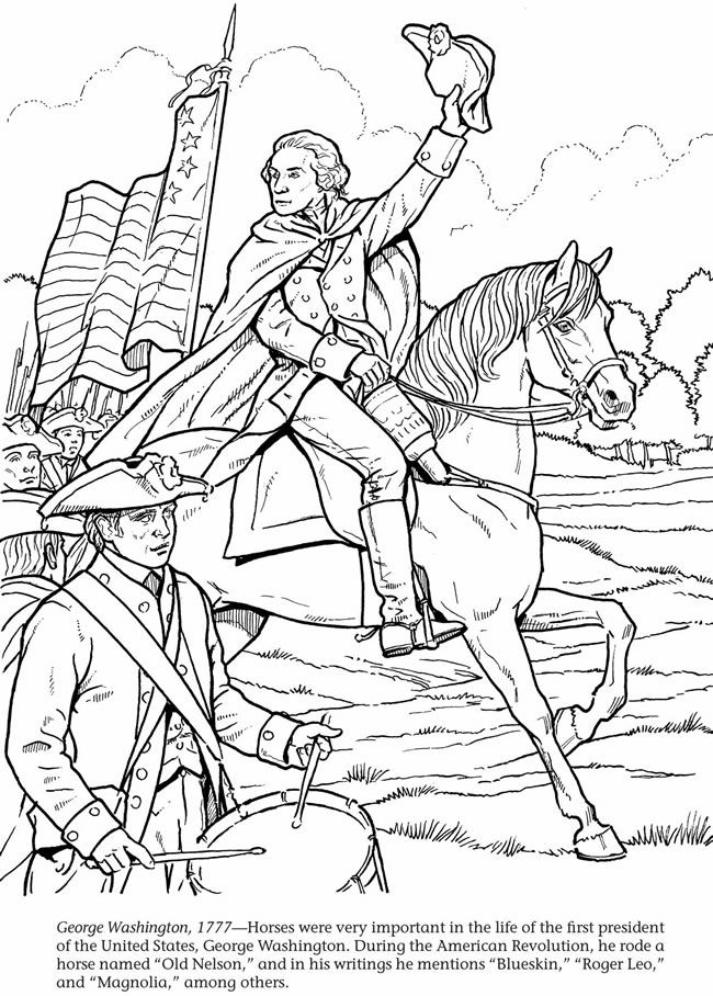 1777 George Washington Coloring Page