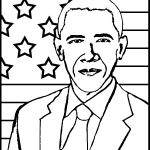 44th President - Barack Obama Coloring Page