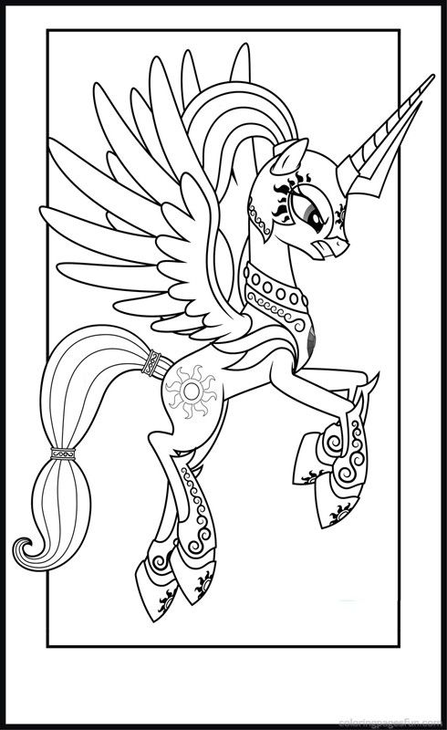 Beautiful Princess Celestia Coloring Pages