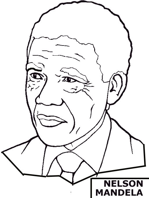 Black History Month Coloring Pages - Nelson Mandela