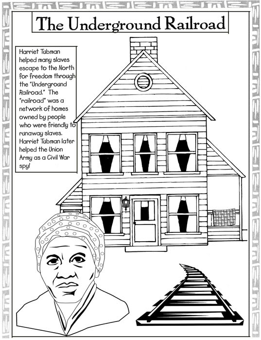 Black history month coloring pages best coloring pages for Underground railroad coloring pages