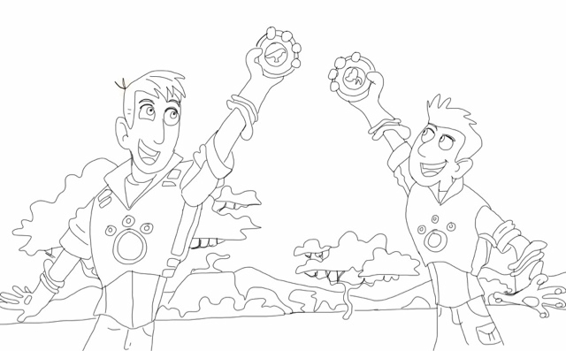 Chris and Martin - Wild Kratts Coloring Pages