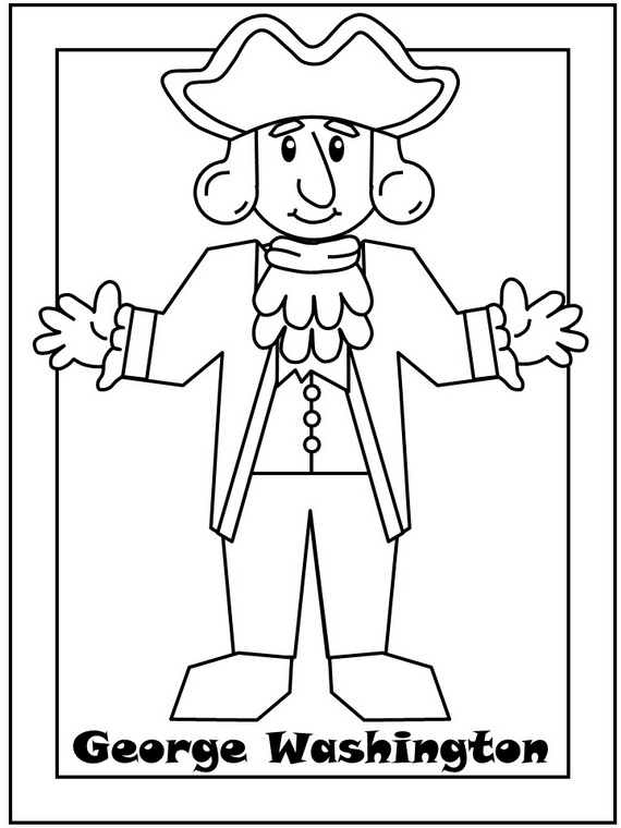 george washington coloring pages best coloring pages for kids George Washington Printables  George Washington Coloring