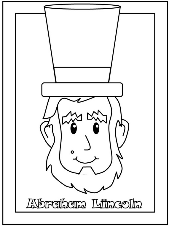 Cute Abraham Lincoln Coloring Pages