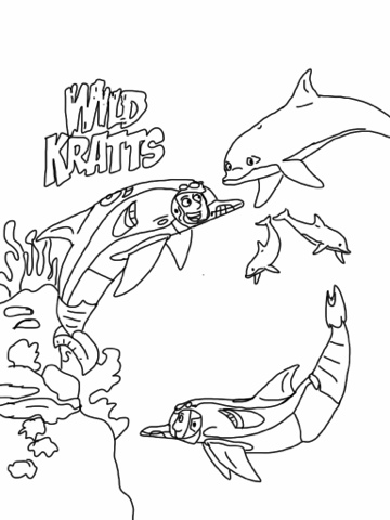 Dolphins Wild Kratts Coloring Pages