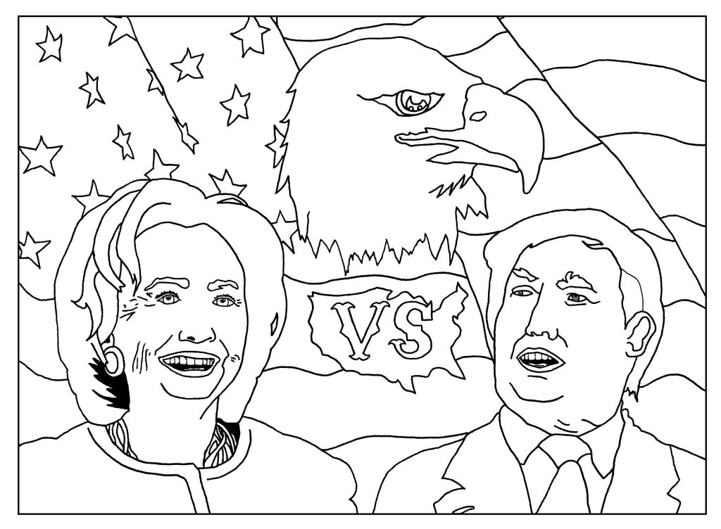 Donald Trump Campaign Coloring Pages