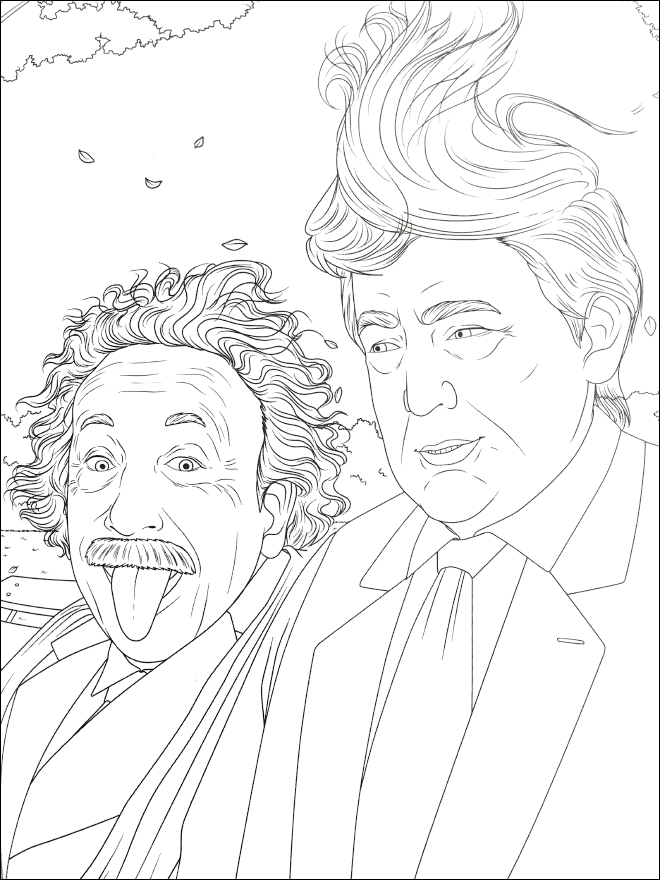 Donald Trumps Hair Coloring Page