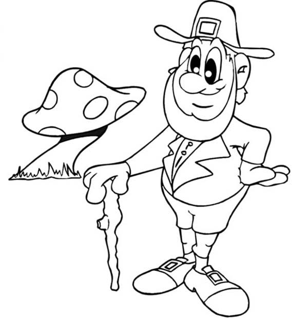 Stupendous image with leprechaun coloring pages printable
