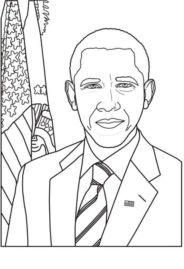 Barack Obama Coloring Pages