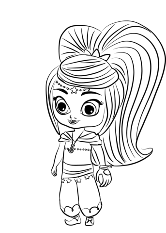 Free Shimmer and Shine Coloring Pages