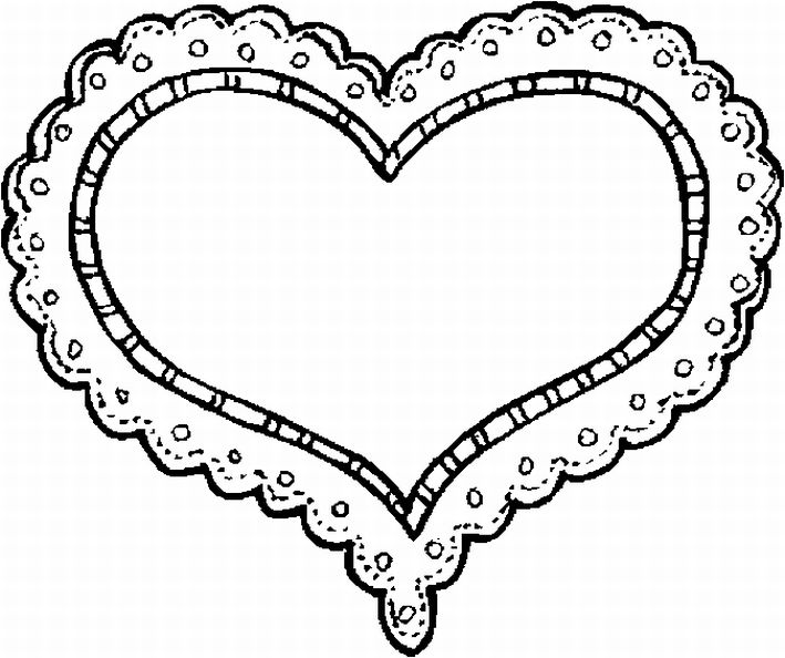 free valentine heart coloring page - Coloring Page Valentine