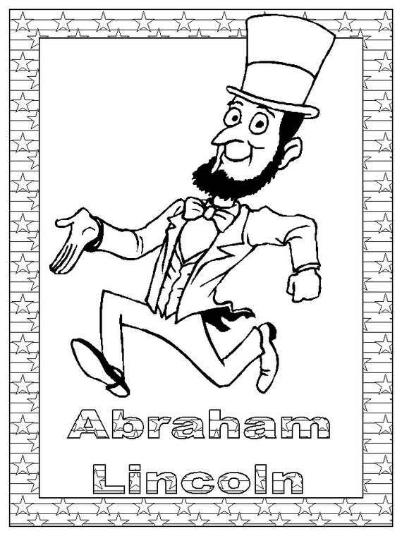 abraham lincoln coloring pages for kids - photo #23