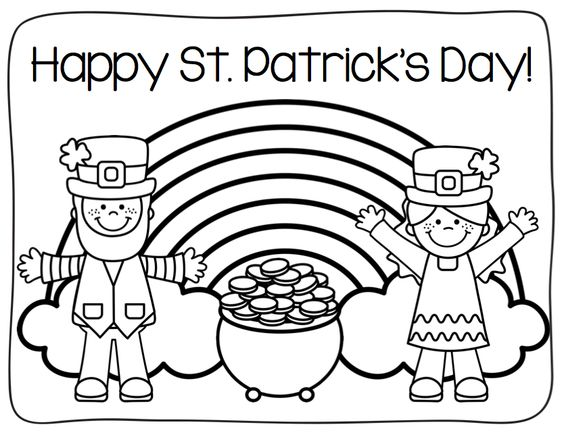 Charmant Happy St Patricks Day Rainbow Coloring Page