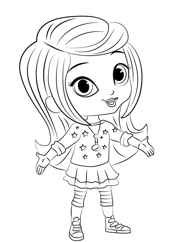 Clean image inside free printable shimmer and shine coloring pages