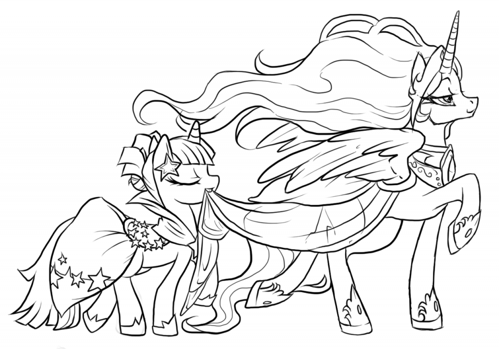 MLP Princess Celestia Coloring Pages