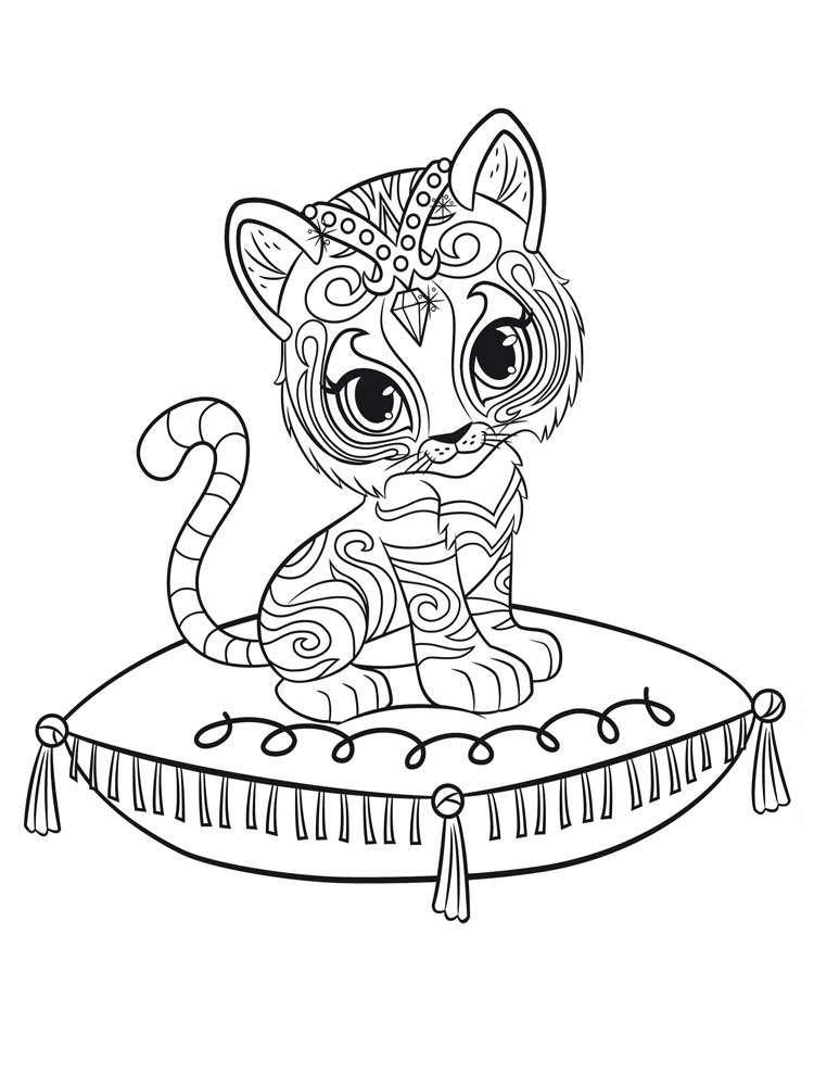 Nahal - Shimmer and Shine Coloring Pages