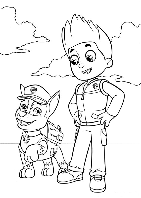 paw print coloring pages - photo#36