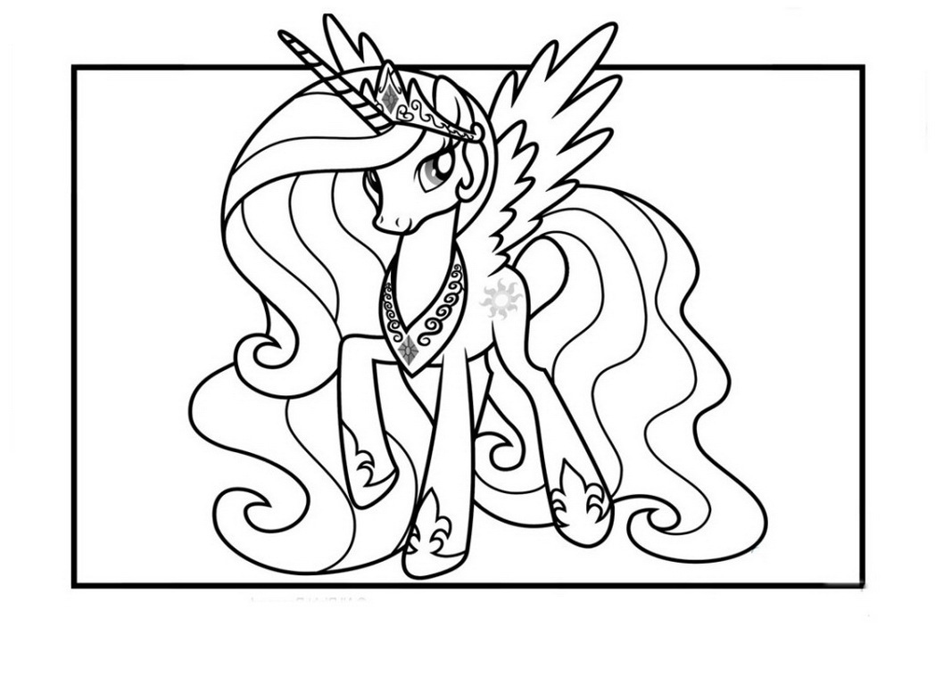 princess celestia coloring page my little pony - Princess Celestia Coloring Page