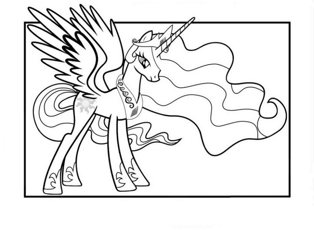 Coloring: Princess Celestia Coloring Pages