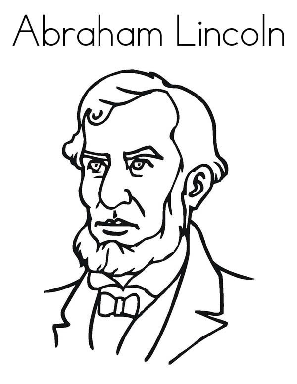 Print Abraham Lincoln Coloring Pages