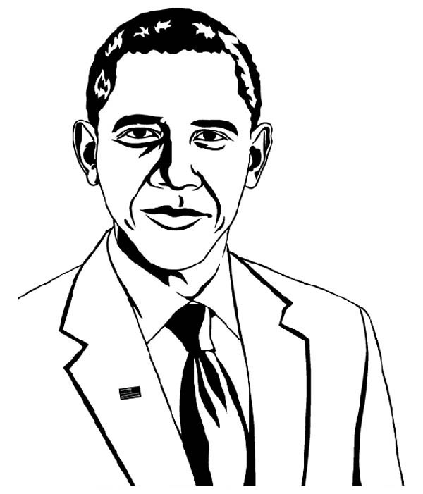 Barack Obama Coloring Pages - Best Coloring Pages For Kids
