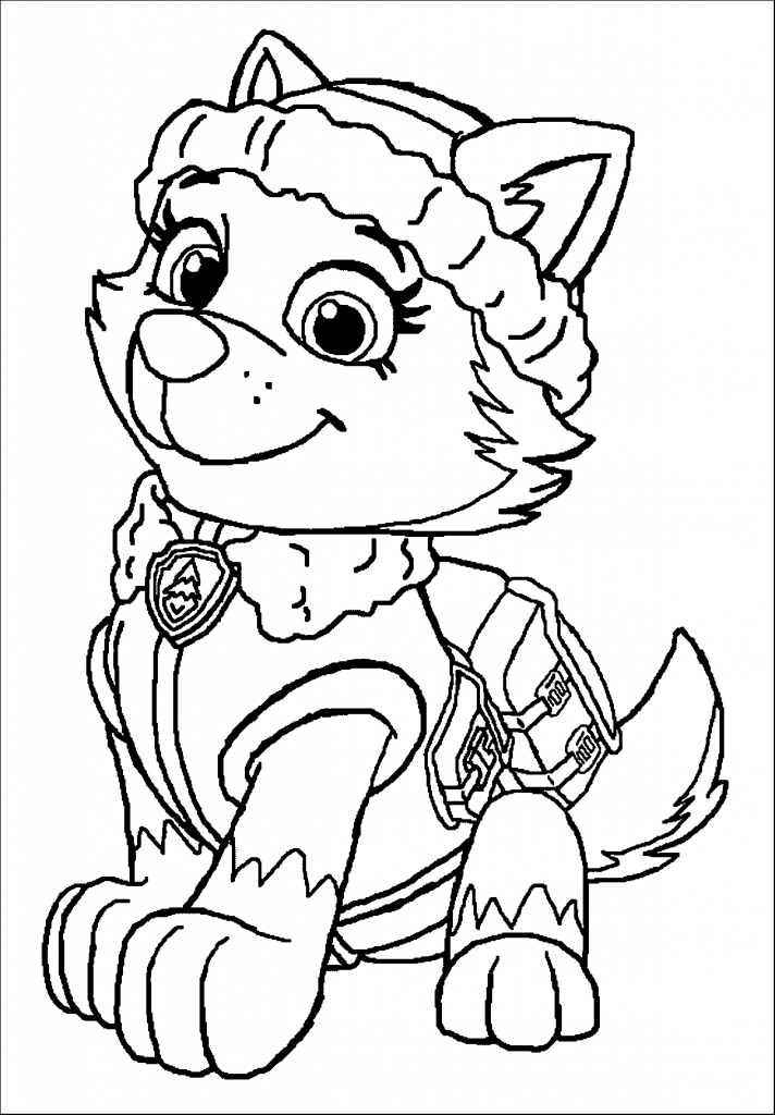 paw print coloring pages - photo#28