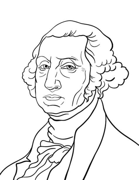 Print and Color George Washington