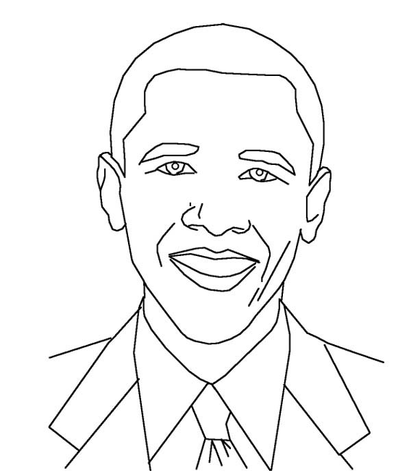 printable barack obama coloring pages - Obama Coloring Pages