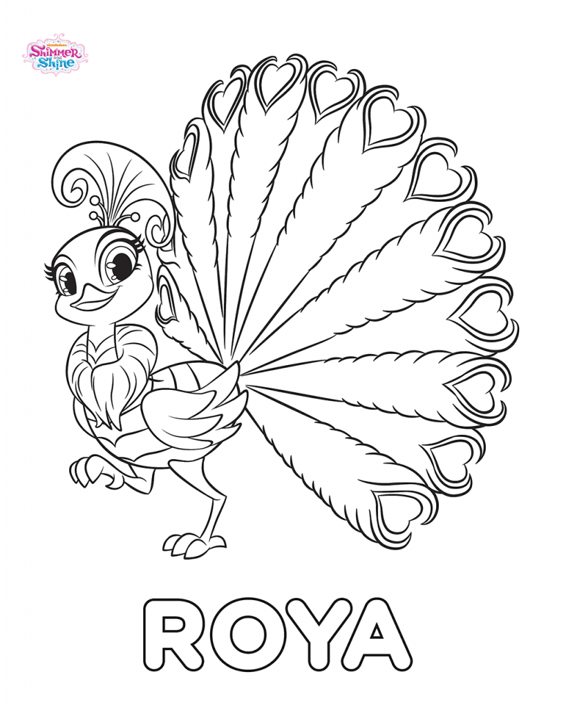 Roya Shimmer and Shine Coloring Pages