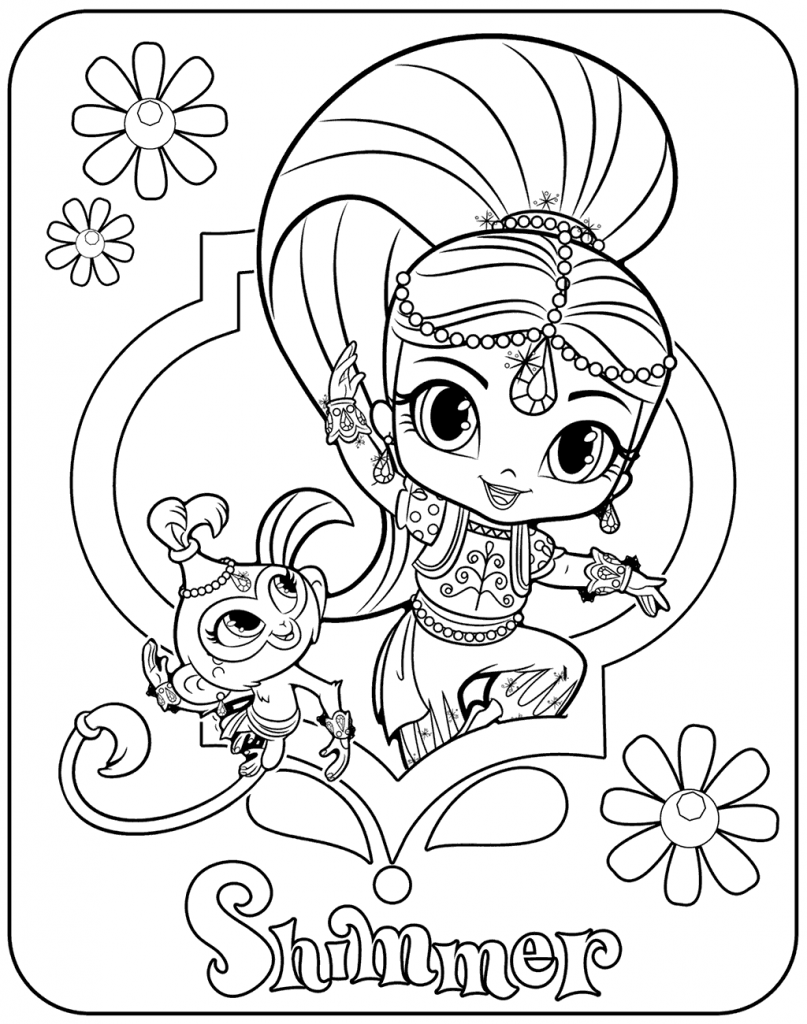 Shimmer Coloring Pages