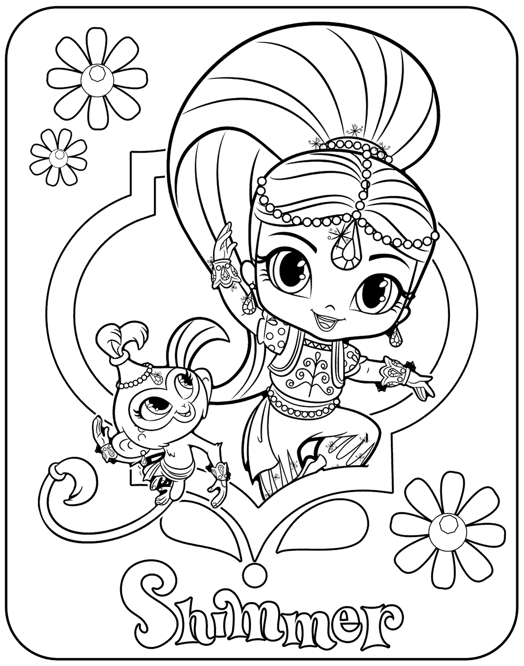 Shimmer and shine coloring pages best coloring pages for Coloring book for toddlers