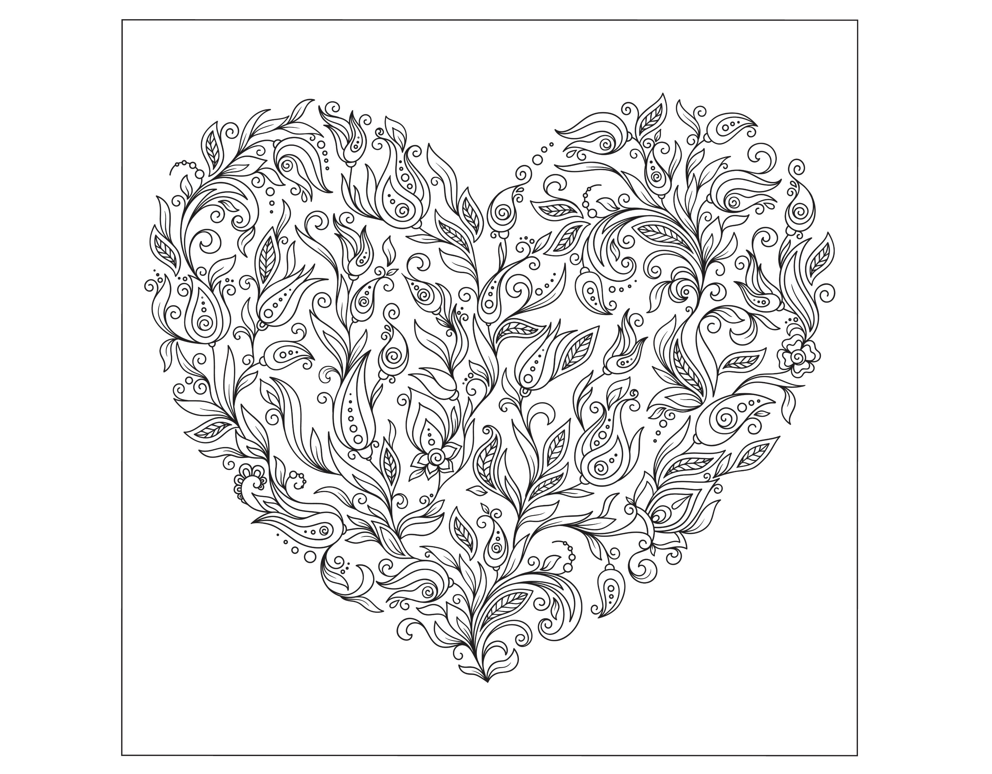 Valentines Day Coloring Pages for