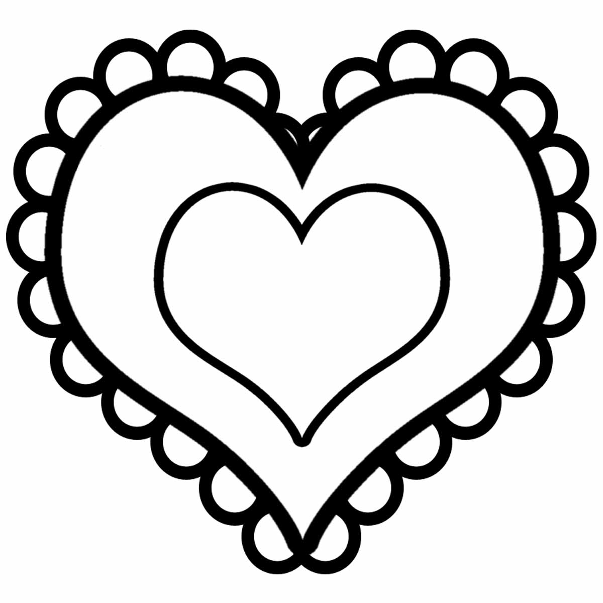 Heart Coloring Pages Valentine Heart Coloring Pages  Best Coloring Pages For Kids