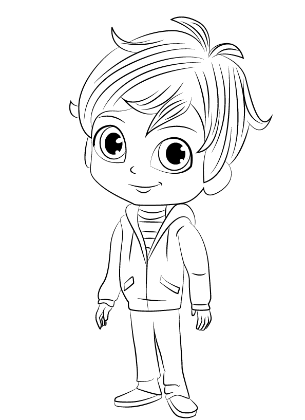 Zac - Shimmer and Shine Coloring Pages