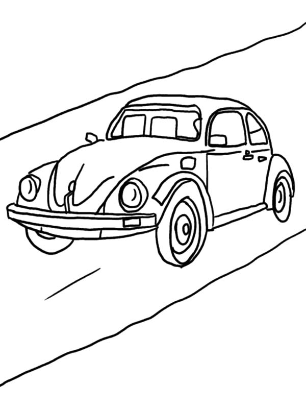 Beetle Car Coloring Pages