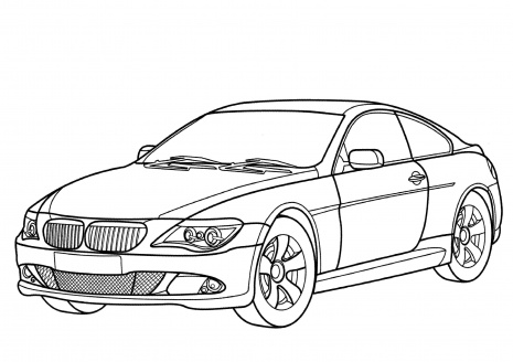 Car Coloring Pages on old sports cars