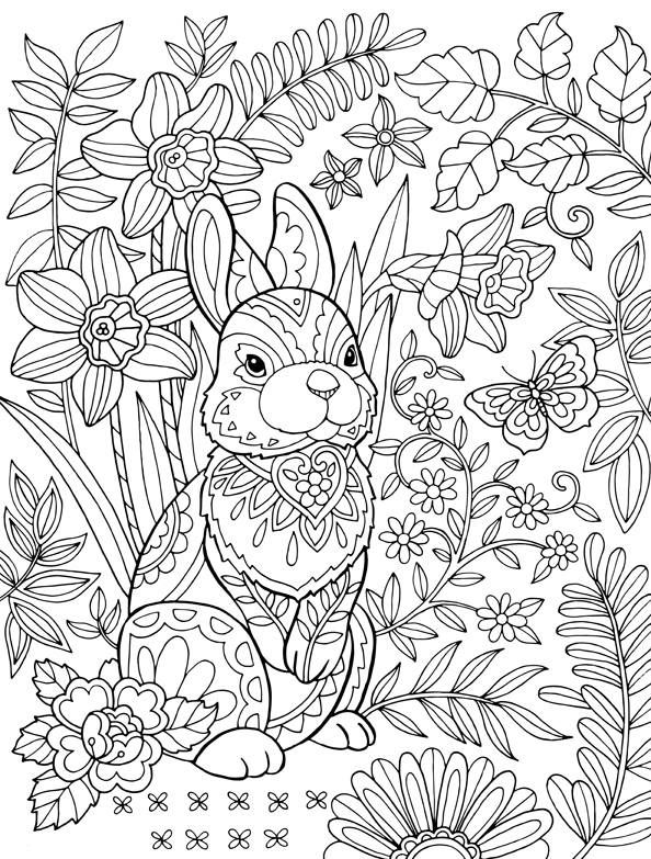Easter coloring pages for adults best coloring pages for for Rabbit coloring pages