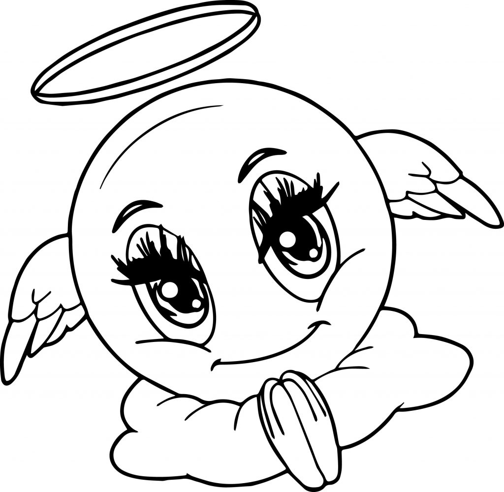 Emoji Coloring Pages - Angel