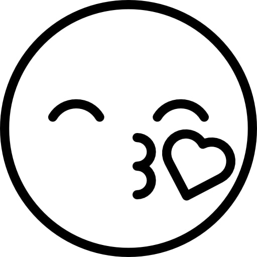 Emoji Coloring Pages - Blow a Kiss