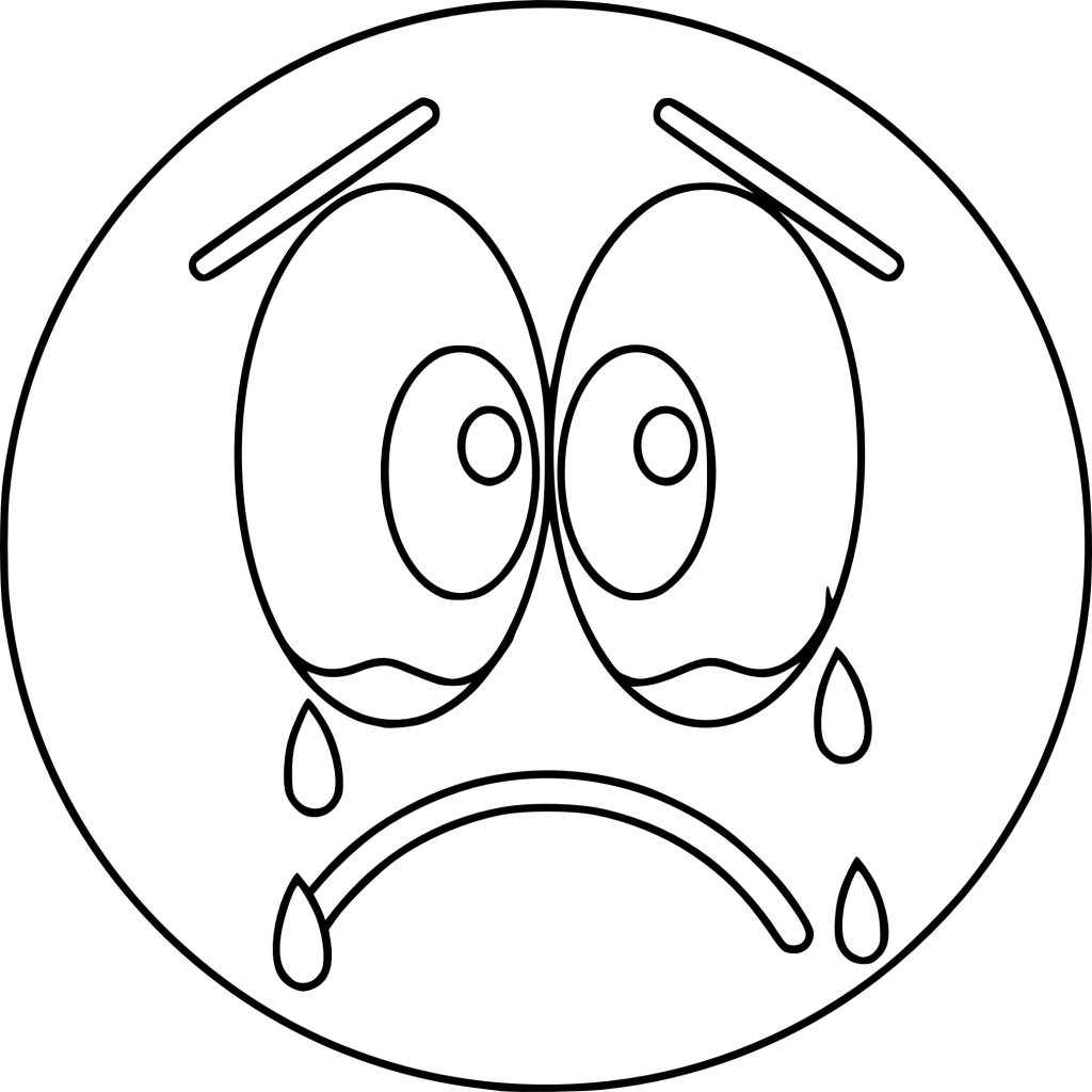 Emoji Coloring Pages - Crying Tears